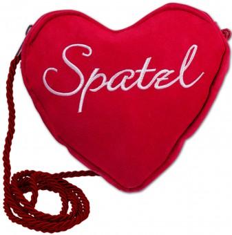Dirndl-Herztasche Spatzl rot