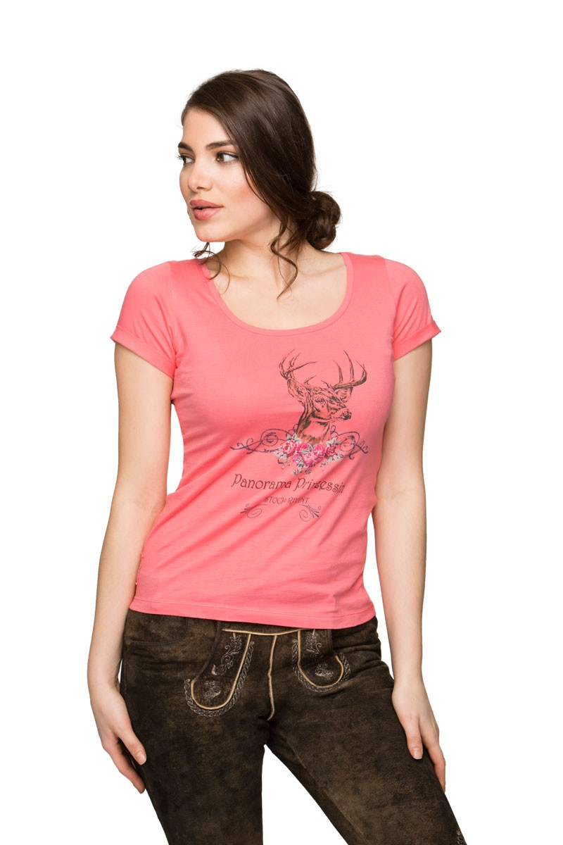 Trachtenshirt Nica flamingo