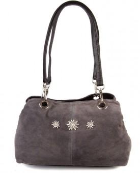 Handtasche Larissa Wildleder grau