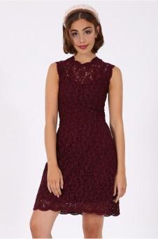 Kleid Megan bordeaux