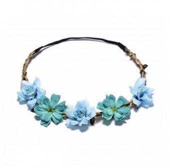 Haarband mit blauen Blüten