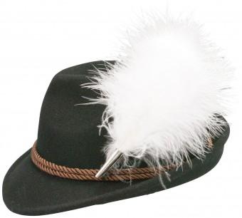 Felt Hat, Plush Feather, Black