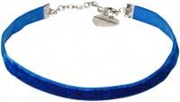 Vorschau: Trachten Samtkropfband Paula blau