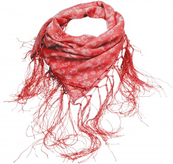 Fransen-Trachtentuch Waldliebe rot