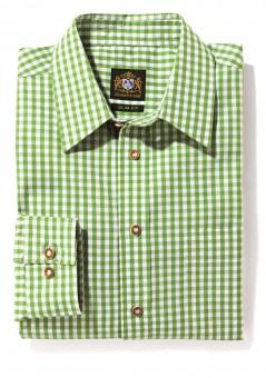 Herrenhemd hellgrün karo