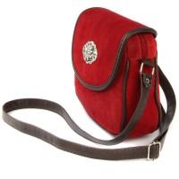 Schultertasche Ramona aus Wildleder rot
