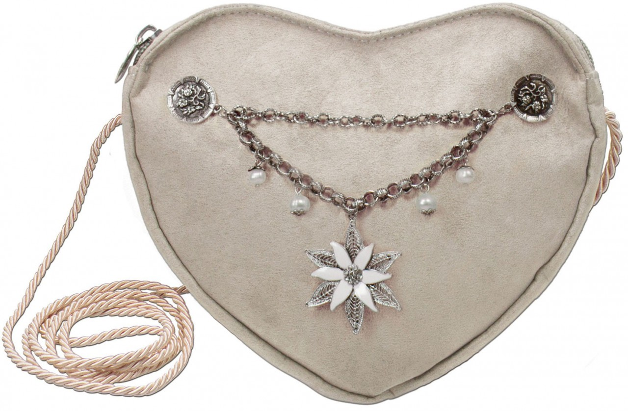 Heartbag Charivari Edelweiss taupe-grijs