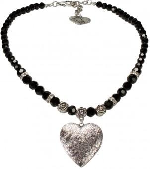 Amulett- Halskette Anthea schwarz