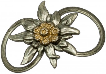 Tuchhalter Edelweißblüte bicolor