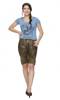 Lederhose Cindy blau