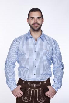 Trachtenhemd Hellblau