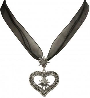 Organza Trachtenkette Maria schwarz