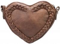 Vorschau: Trachten Herztasche Kunstleder braun