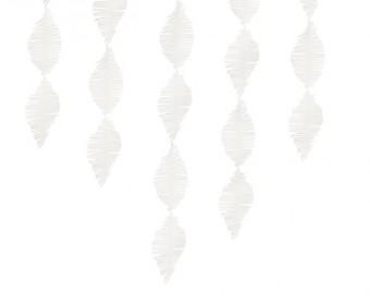Krepppapier Girlande weiß 3m