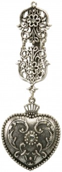 Dirndl Apron-Brooch Marie, Antique Silver