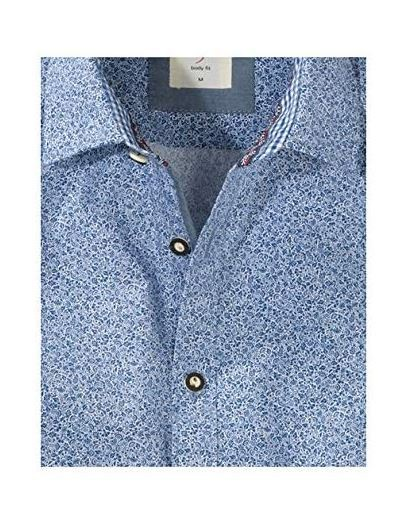 Olymp Trachtenhemd blau
