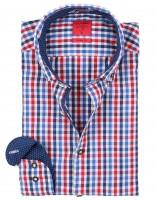 Vorschau: Trachtenhemd Olymp blau/rot kariert