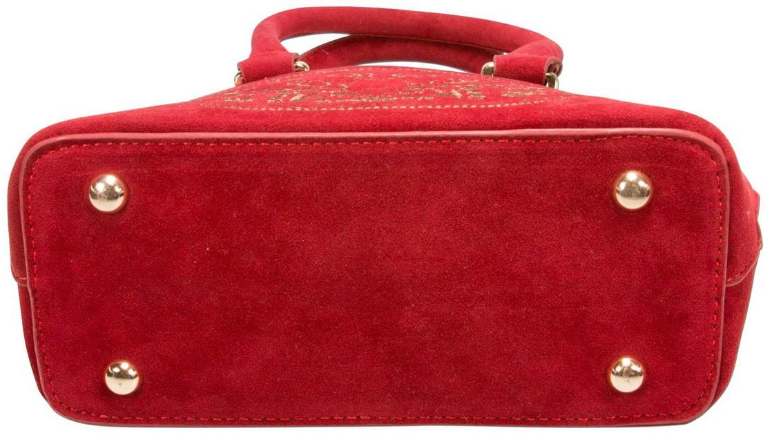 Trachtentasche Steinbock rot