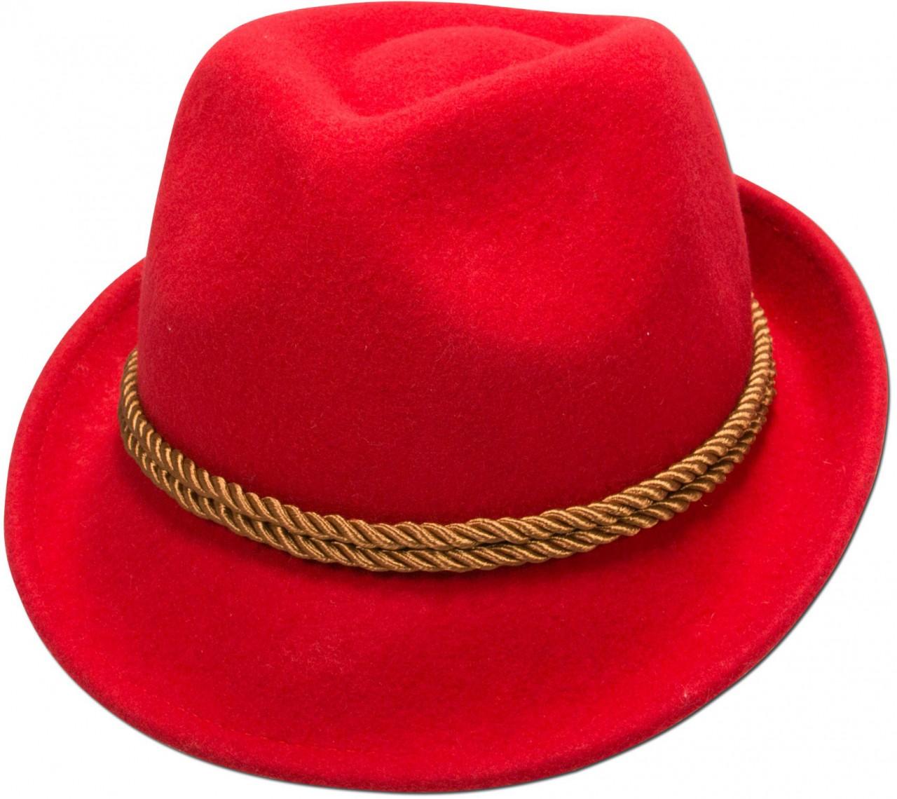 Vilten hoed Ronja rood