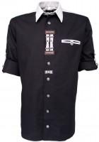 Trachtenhemd Nils schwarz