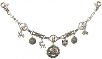 Trachten Charivari Hunter Chain, Antique Silver