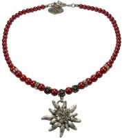Widok: Naszyjnik z pereł Big Edelweiss czerwony
