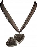 Vorschau: Organzakette Herzamulett schwarz