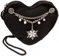 Vorschau: Herztasche mit Edelweiß Charivari schwarz