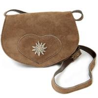 Vorschau: Wildledertasche in Herzform klein hellbraun