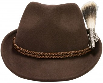 Felt Hat, Chamois Badge, Brown