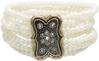 Vorschau: Trachten-Perlenarmband Lorelei cremeweiß