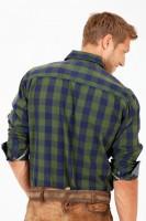 Vorschau: Trachtenhemd Woodsman grün/blau