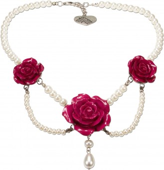 Perlenkette Karina pink