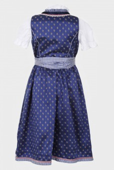 Kinderdirndl Wildberry Bomb blau