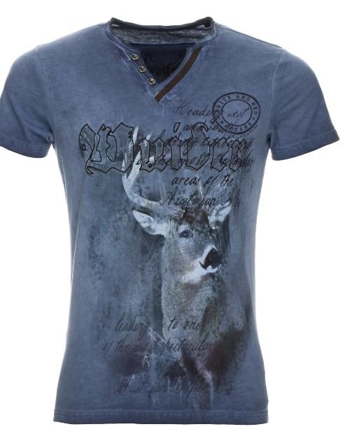 T-Shirt Uberto bleu