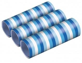 3 blaue Luftschlangen 4m