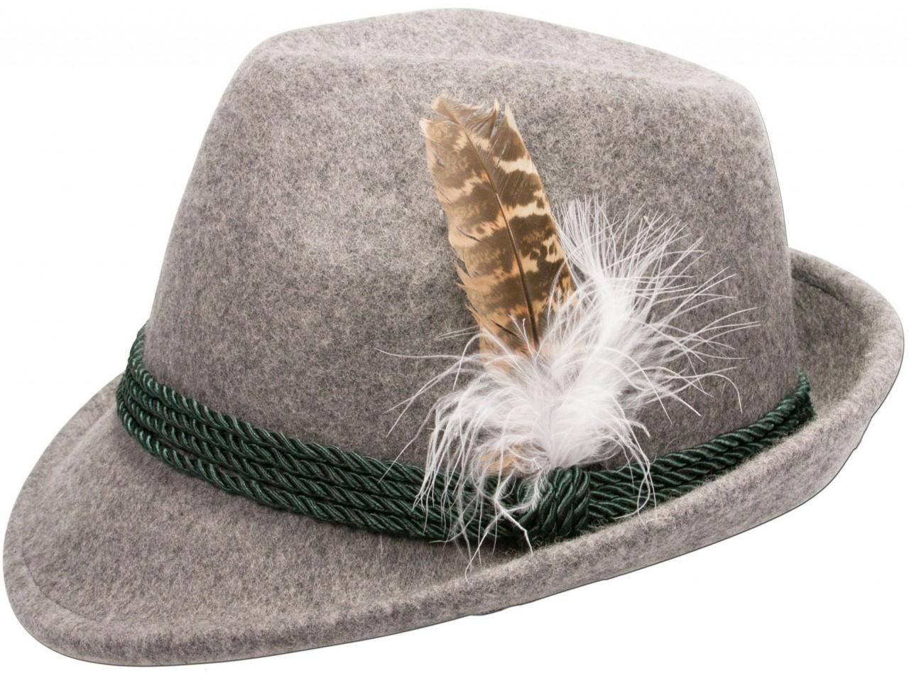 Tradycyjny filcowy kapelusz w kolorze szarym