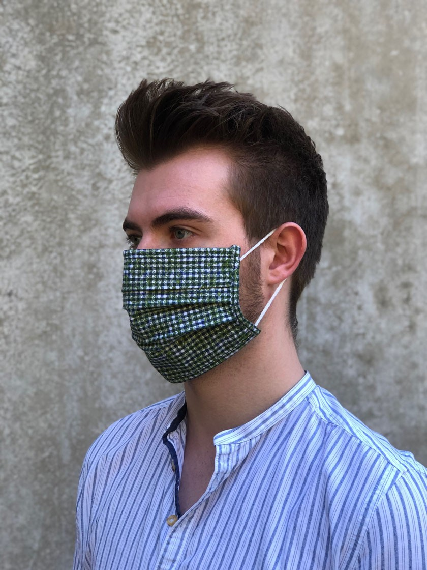 Mund-Nasen-Maske Robert grün
