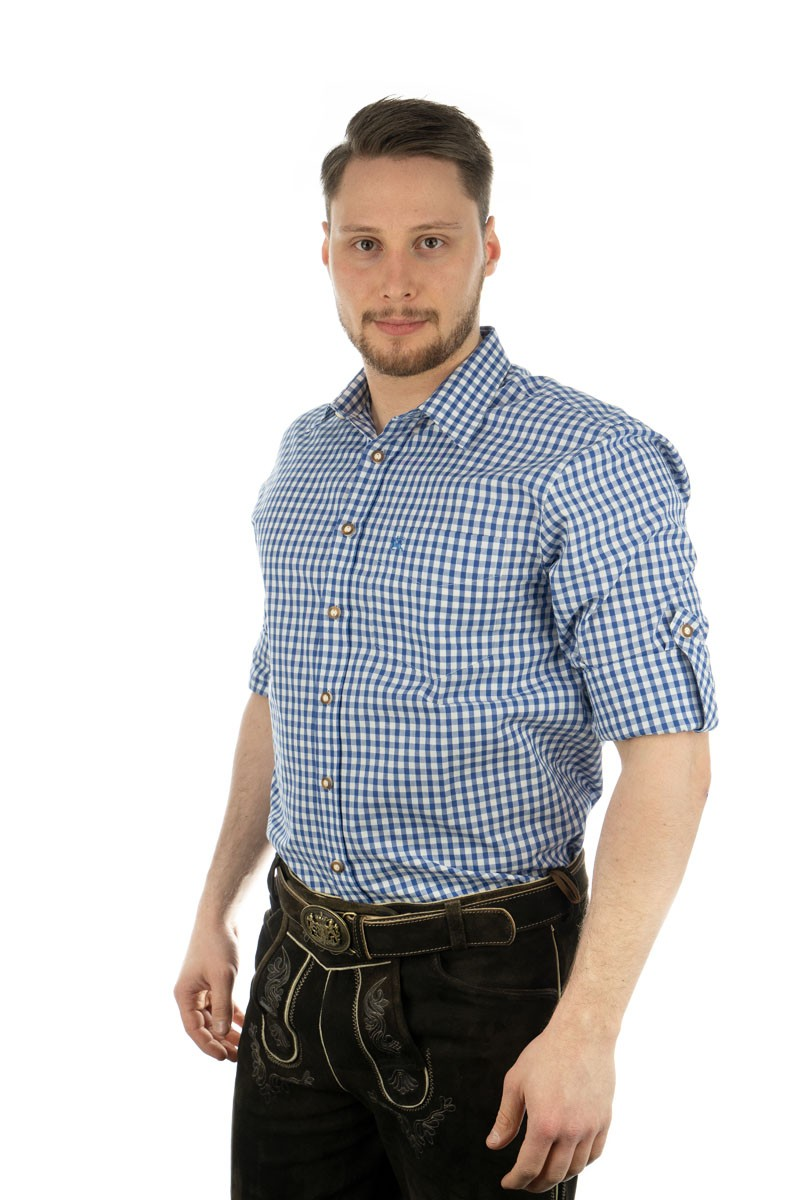 Trachtenhemd Philipp blau