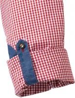 Vorschau: Olymp Hemd Trachtenhemd rot/weiss