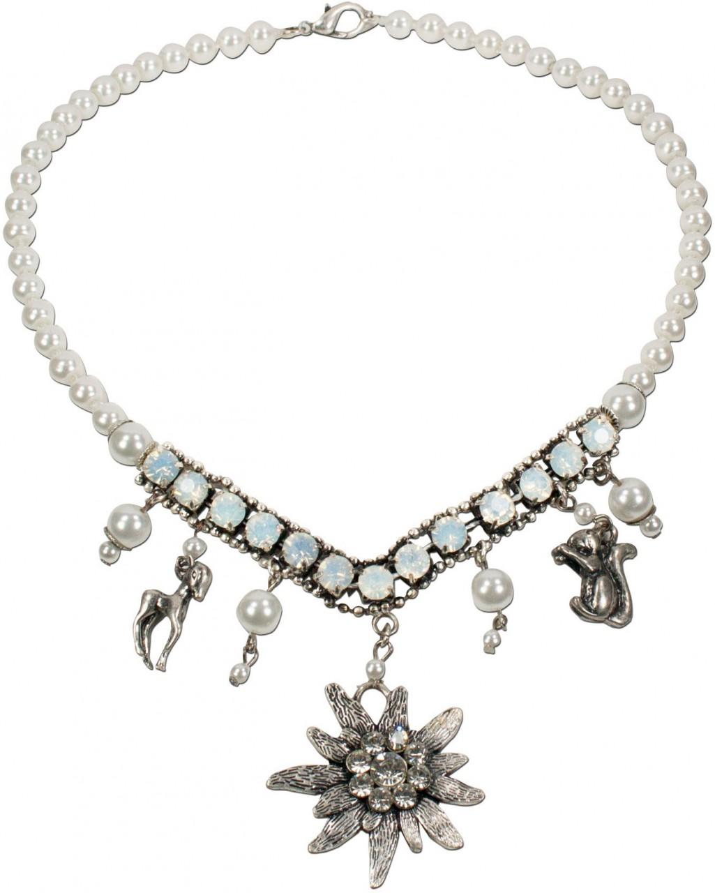 Perlenkette Hanne weiß