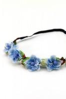 Vorschau: Haarband mit blauen Frühlingsblüten