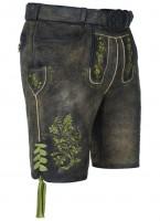 Lederhose Degenhart grün meliert