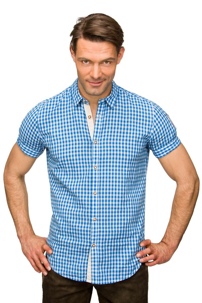 Koszula z krótkim rękawem Connor niebieska