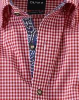 Vorschau: Olymp Hemd Trachtenhemd rot/weiss Kariert