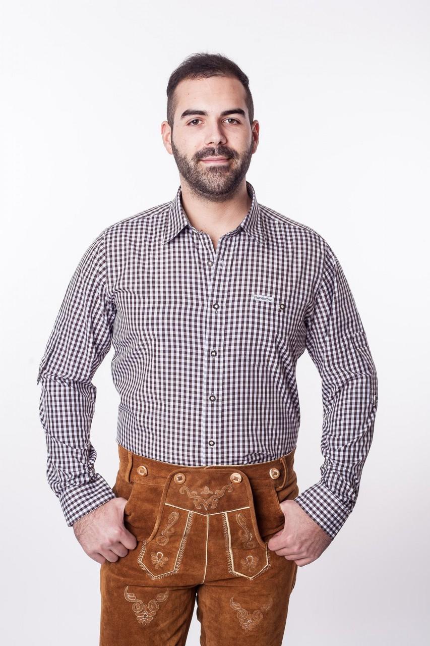 Trachtenhemd Braun