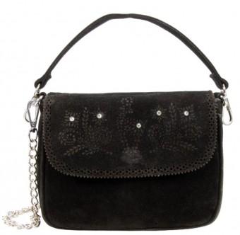 Trachtentasche mit Verzierung schwarz