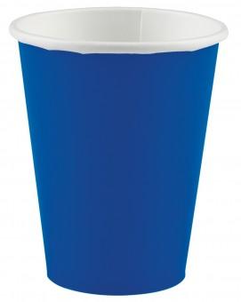 20 blaue Pappbecher 266ml
