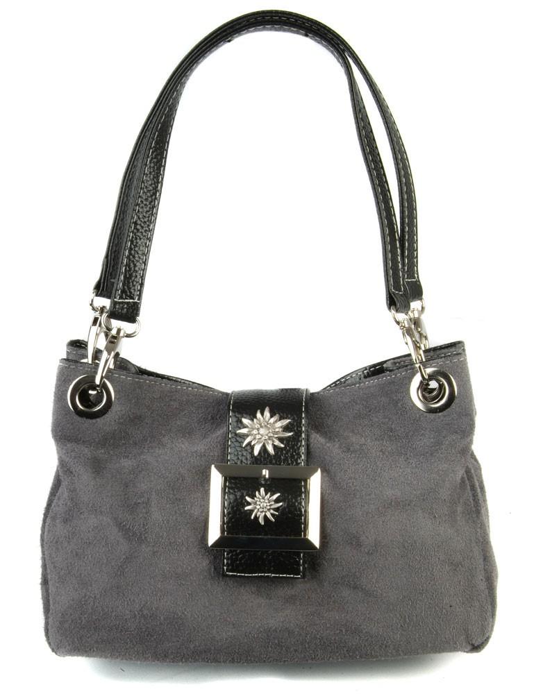 Handtasche Nora Wildleder grau