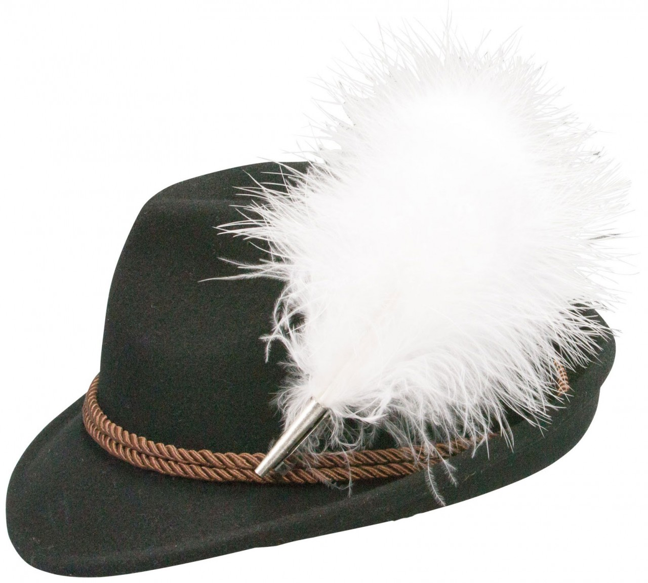 Traditional hat fluff feather black
